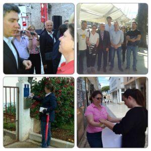 Wahlkampf in Kroatien/Zadar